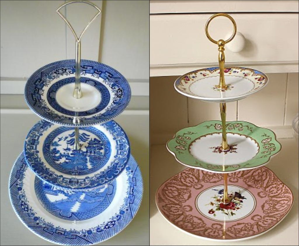 Tiered ... & Marvelous Monday: Cake Stands u0026 Tea Plates | A Realistic Wedding