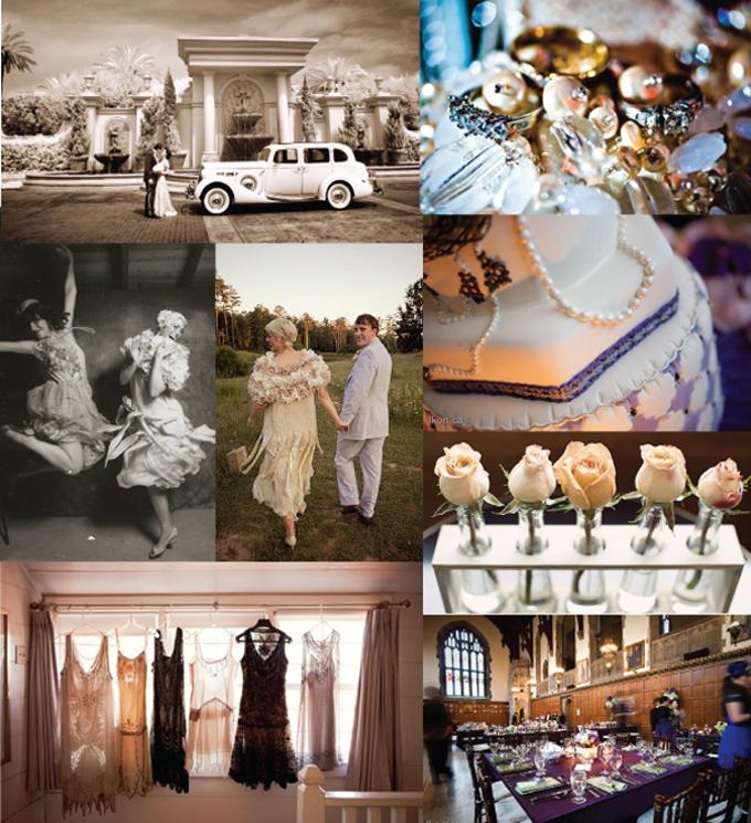 Wednesday Wedding Wonders: Great Gatsby Inspiration Board