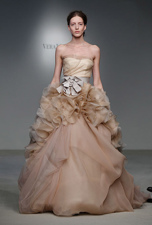 db2de0cc729cb The color is absolutely exquisite, the oversized bow & contrasting sash  create the perfect silhouette and the extravagantly soft ruffled skirt give  the gown ...