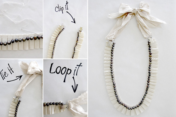 Diy wedding necklace a realistic wedding i absolutely solutioingenieria Images