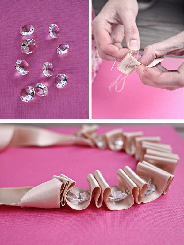 Diy wedding necklace a realistic wedding diy ribbon necklace solutioingenieria Image collections