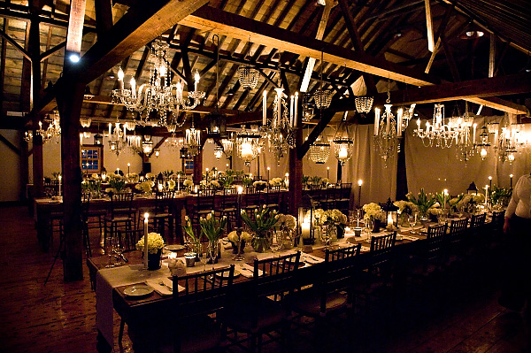 Long Reception Tables A Realistic Wedding