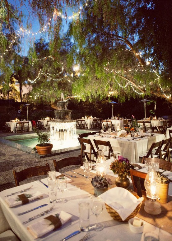 What i m loving wednesday lavish outdoor receptions a for Backyard engagement party decoration ideas